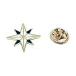 White Enamel Star Lapel Pin