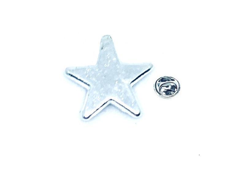Silver tone Star Lapel Pin