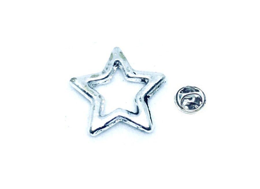 Silver platting Star Lapel Pin