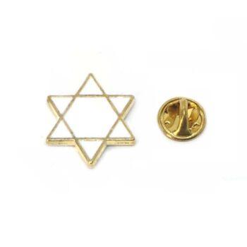 White Enamel Star Pin