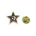 Red Enamel Star Lapel Pin