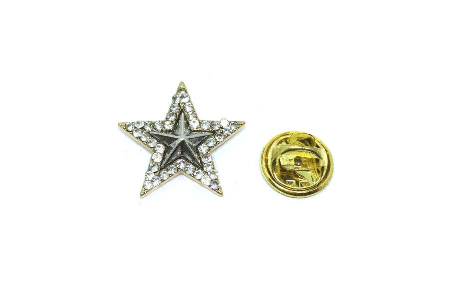 Crystal Star Lapel Pin