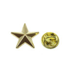Gold plated Star Lapel Pin