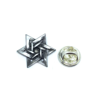 Silver plated Vintage Star Lapel Pin