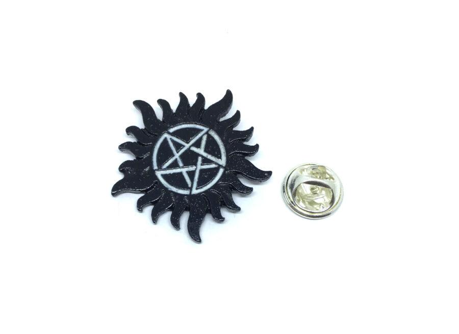 Black plated Star Lapel Pin