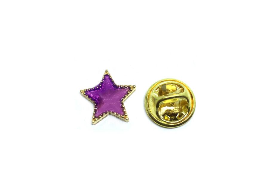 Gold plated Enamel Star Lapel Pin
