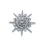 Crystal Star Brooch Pin