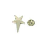 Gold tone Star Lapel Pin