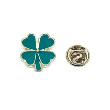 Green Enamel Shamrock Lapel Pin