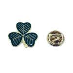 Green Enamel Shamrock Pin
