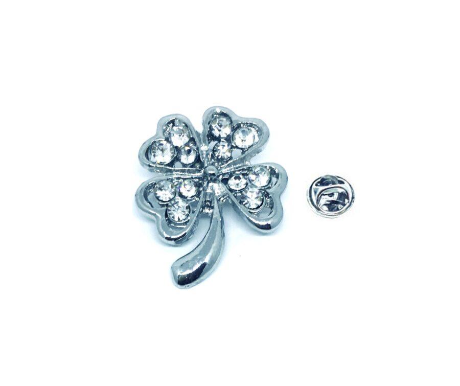 Crystal Shamrock Pin