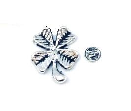 Silver plated Shamrock Pin