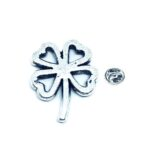 Silver plated Shamrock Lapel Pin