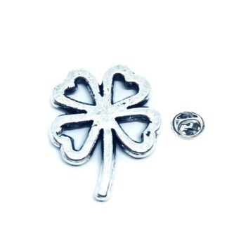 Silver plated Shamrock Lapel Pin