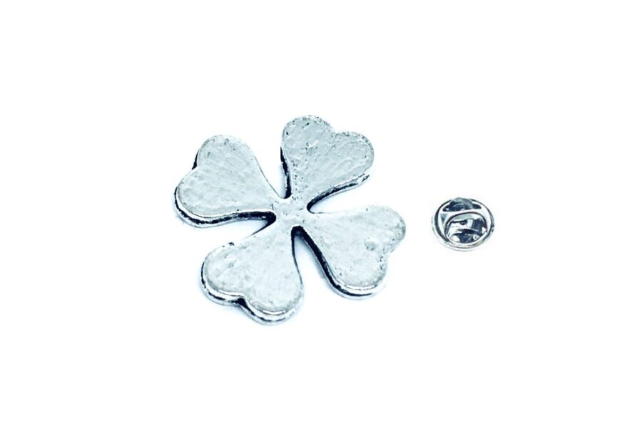 Silver tone Shamrock Pin