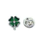 Crystal Enamel Shamrock Lapel Pin