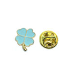 Tiny Enamel Shamrock Lapel Pin