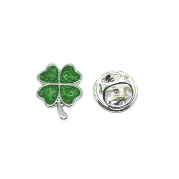 Green Enamel Shamrock Lapel Pins