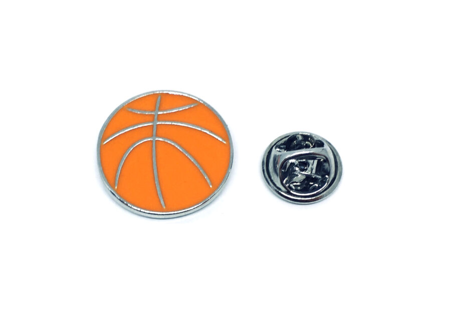 Orange Enamel Sport Pin