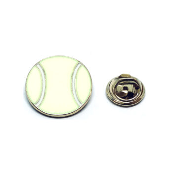Yellow Enamel Sport Lapel Pin
