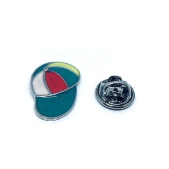 Softball Enamel Cap Sport Pin