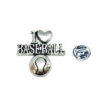 I Love Baseball Sport Pin