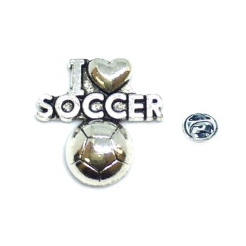 I Love Soccer Sport Pin