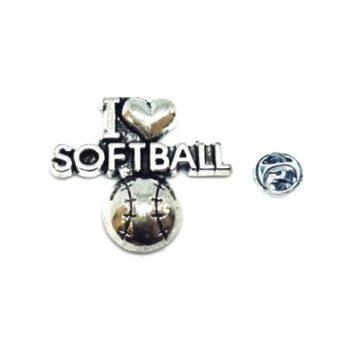 I Love Softball Sport Pin