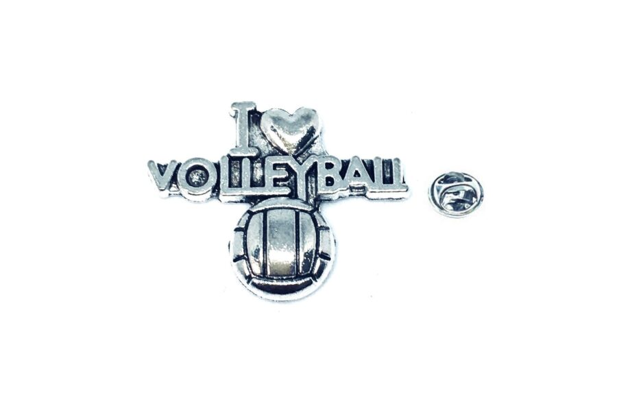 I Love Volleyball Sport Pin