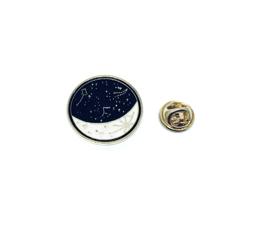 Gold plated Enamel Space Pin