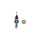 Space Rocket Lapel Pin