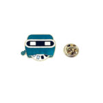 Gold plated Enamel Space Lapel Pin