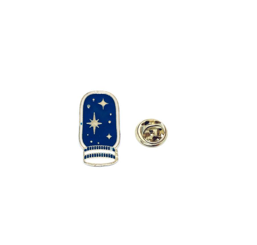 Gold tone Enamel Space Lapel Pin