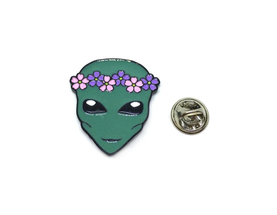 Alien Enamel Space Lapel Pin