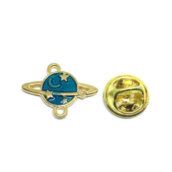 Star Moon Space Lapel Pin