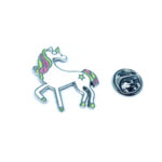Silver plated Enamel Unicorn Lapel Pin