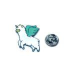 Silver plated Enamel Unicorn Pin