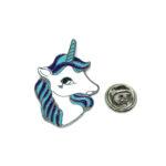 Silver tone Unicorn Pin