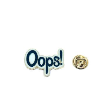Oops! Word Lapel Pin