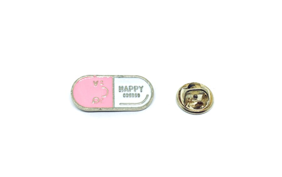 Happy Word Lapel Pin