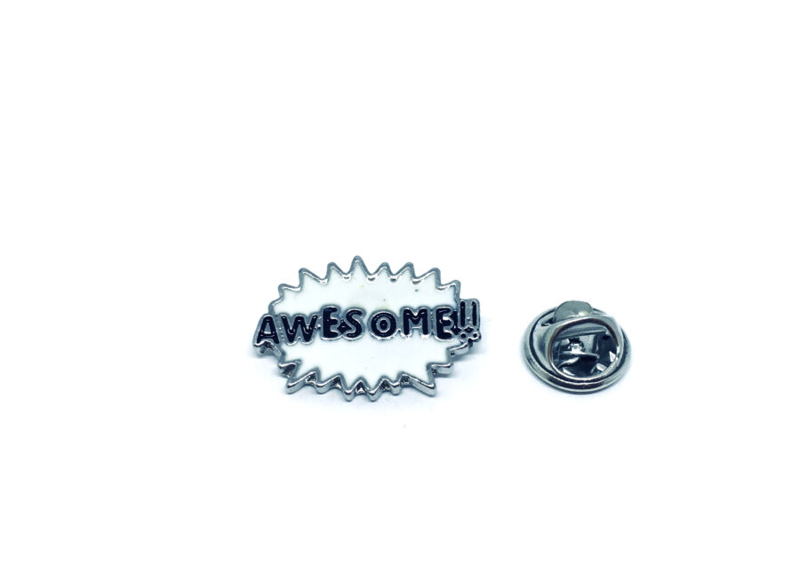 Awesome Word Lapel Pin