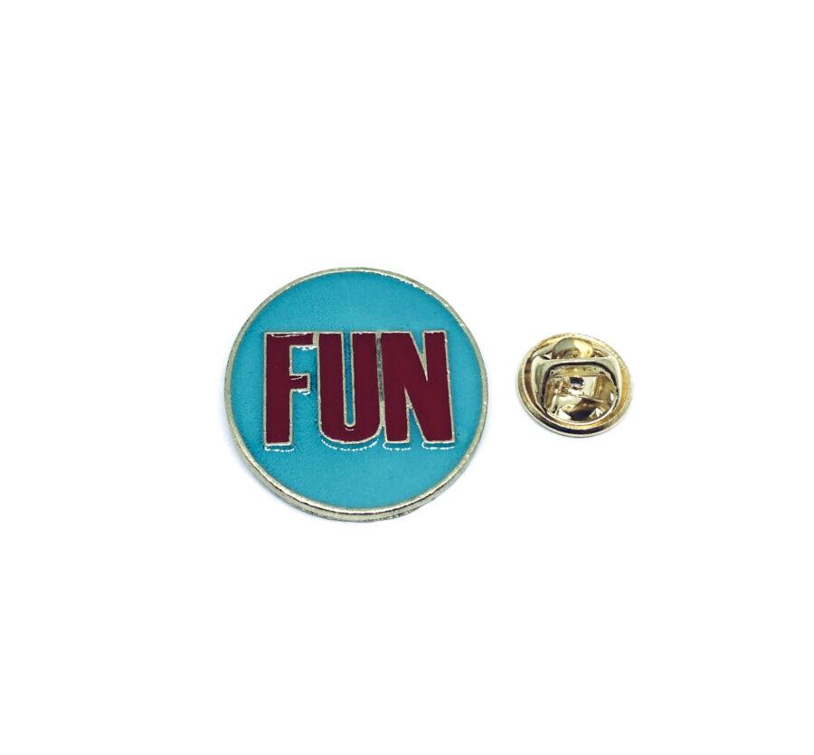 Fun Word Lapel Pin