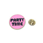 Party Time Word Lapel Pin