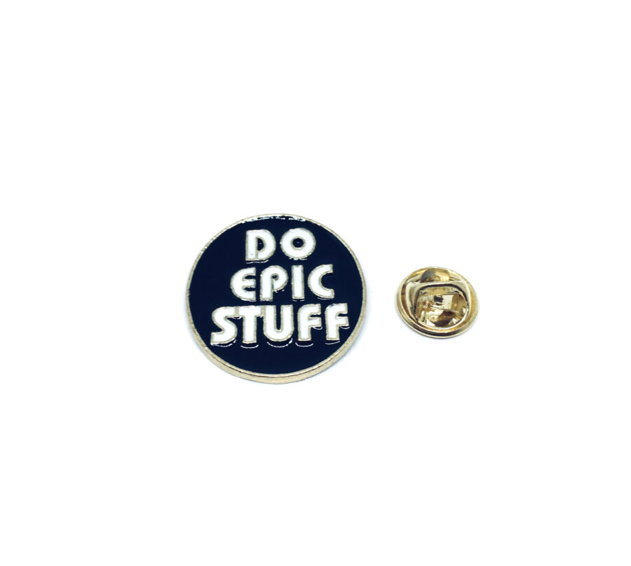 Do Epic Stuff Word Lapel Pin