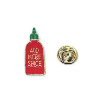 Add More Spice Word Lapel Pin