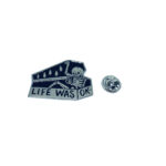 Life was OK Word Lapel Pin