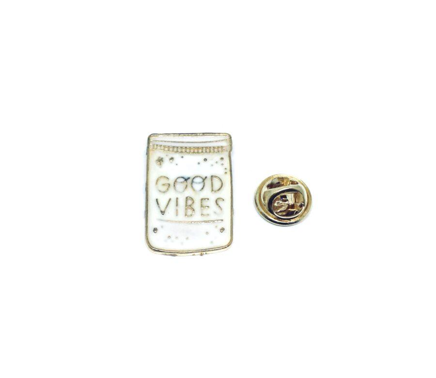 Good Vibes Word Lapel Pin