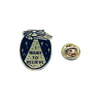I want to Believe Word Pin
