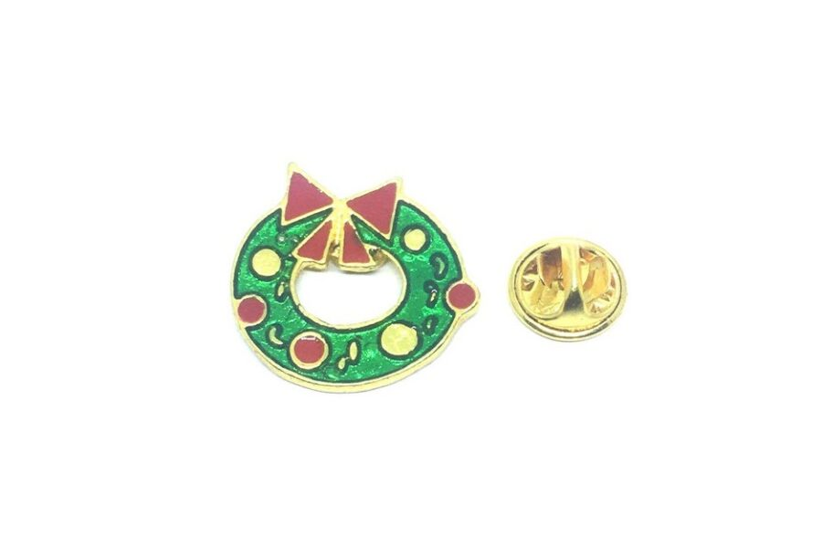 Gold plated Christmas Lapel Pin