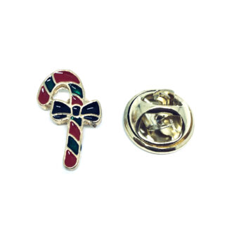 Gold tone Enamel Christmas Pin